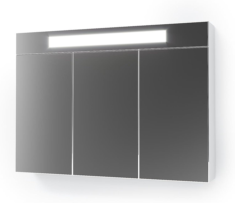 Vicco 3D LED Spiegelschrank Wei Badschrank Badspiegel Badezimmerspiegel Beleuchtung (90 cm)