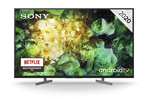 Sony KD-49XH8196 - Televisor 4K HDR Android TV (Smart TV, procesador X1 4K HDR, Triluminos, 4K X-Reality PRO, MotionFlow XR, Dolby Vision, Dolby Atmos, calibración automática caIMAN, control por voz)
