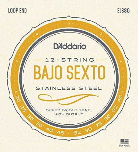 D'Addario EJS86. Cuerdas para bajo sexto