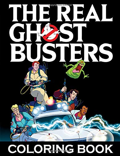 The Real GhostBusters Coloring Book for adults and kids, featuring the classic 80s cartoon