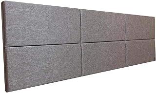 Cabeceira Estofada Queen Bloco Alce Couch Linho Marrom 160cm