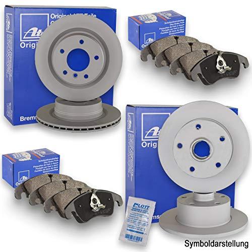 Original ATE Bremsscheiben + ATE Bremsbeläge Vorne + Hinten Bremsklötze Bremsenkit Komplettset Vorderachse + Hinterachse
