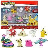 Pack de huit figurines articulées Pokémon Six figurines 3-5 cm : Pikachu, Mimiqui, Vorastérie, Bacabouh, Métamorph et Goupix D'alola Deux figurines huit cm Grotadmorv D'alola et Magicarpe Collectionnez toutes les figurines Pokémon de Bandai