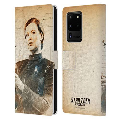 Head Hülle Designs Offizielle Star Trek Discovery Sylvia Tilly Grunge Individuellkeiten Leder Brieftaschen Handyhülle Hülle Huelle kompatibel mit Samsung Galaxy S20 Ultra 5G