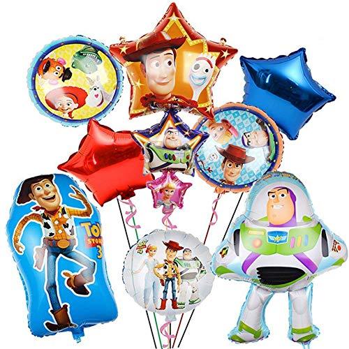 BAIBEI Birthday Party Foil Balloons,Globos de papel de Toy Story Fiesta de cumpleaños Suministros Decoración