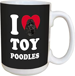 Tree Free Greetings LM45134 I Heart Toy Poodles Ceramic Mug with Full-Sized Handle, 15-Ounce