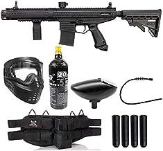 Maddog Tippmann Stormer Elite Dual Fed Silver Paintball Gun Marker Starter Package - Black