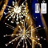 Explosión solar luces de los fuegos de cobre LED cadena luces al aire libre luces de la decoración del jardín luces colgantes (Color : Beige-Solar-5 sets)