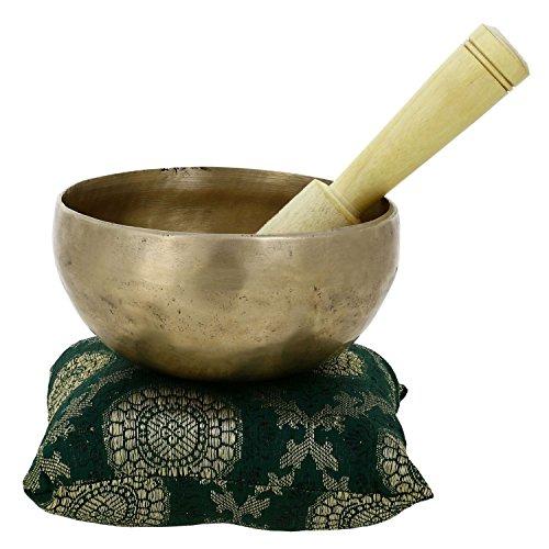 RoyaltyRoute handgemachte buddhistischen Messing Schale zu singen, für Meditation und Heilung lange anhaltende große Sound-12,7 CM