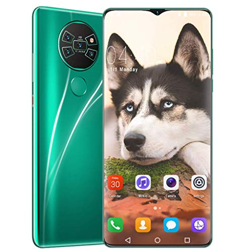 PNAYK Mate36 Smartphone Sin Sim (4GB + 32GB) con Pantalla FHD + 6,7 Pulgadas, Cuatro Cámaras Al, Android 10, Batería 4800 mAh, 4G Dual SIM Teléfono Móvil Desbloqueado,Verde