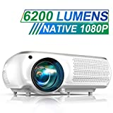 Vidéoprojecteur, TOPTRO 6200 Lumens Vidéo Projecteur Full HD 1080P Natif 1920x1080 Rétroprojecteur LCD Soutien 4K, Correction...