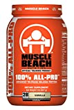 Muscle Beach Nutrition 100% All-Pro Advanced Tri-Phase Release Protein (Vanilla, 2lb) Whey Protein Isolate, Micellar Casein, Whey Protein Concentrate