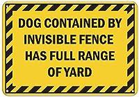 犬の目に見えないフェンスが含まれている庭のアルミニウム金属看板のフルレンジ