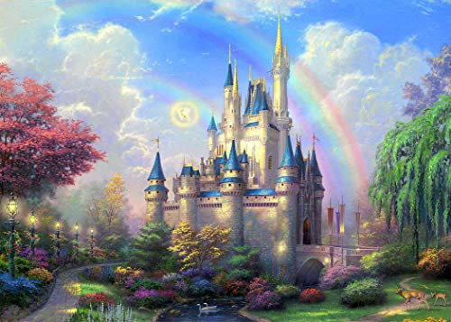 7x5ft Dreamy Castle Photography Backdrop for Kids Fairy Tale Princess and Prince Entertainment or Birthday Party Photo Backgrounds BV043