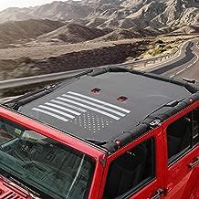 Voodonala for Jeep JKU Sunshade Mesh Sun Shade Bikini Top for 2007-2018 Jeep Wrangler JKU 4 Door, Flag