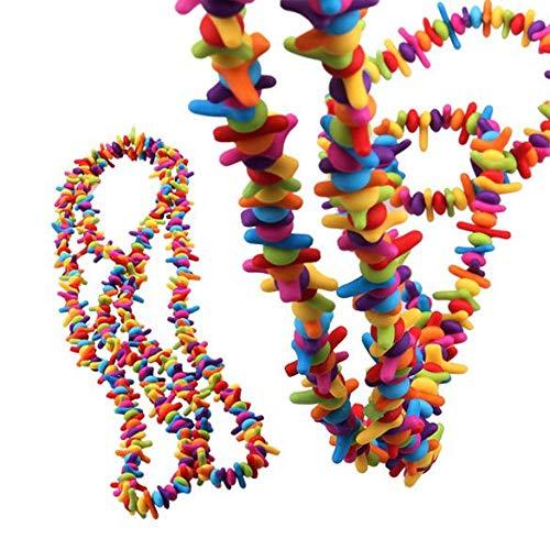 Venta al por mayor colorido imitación coral chip perlas collar