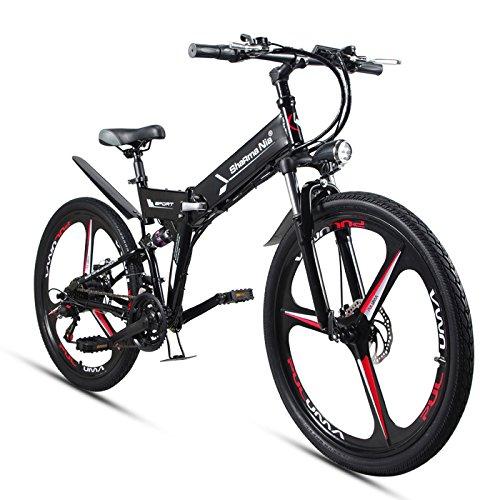 GTYW Elettrico Pieghevole Bicicletta Montagna Bicicletta 48V Al Litio 26 Pollici