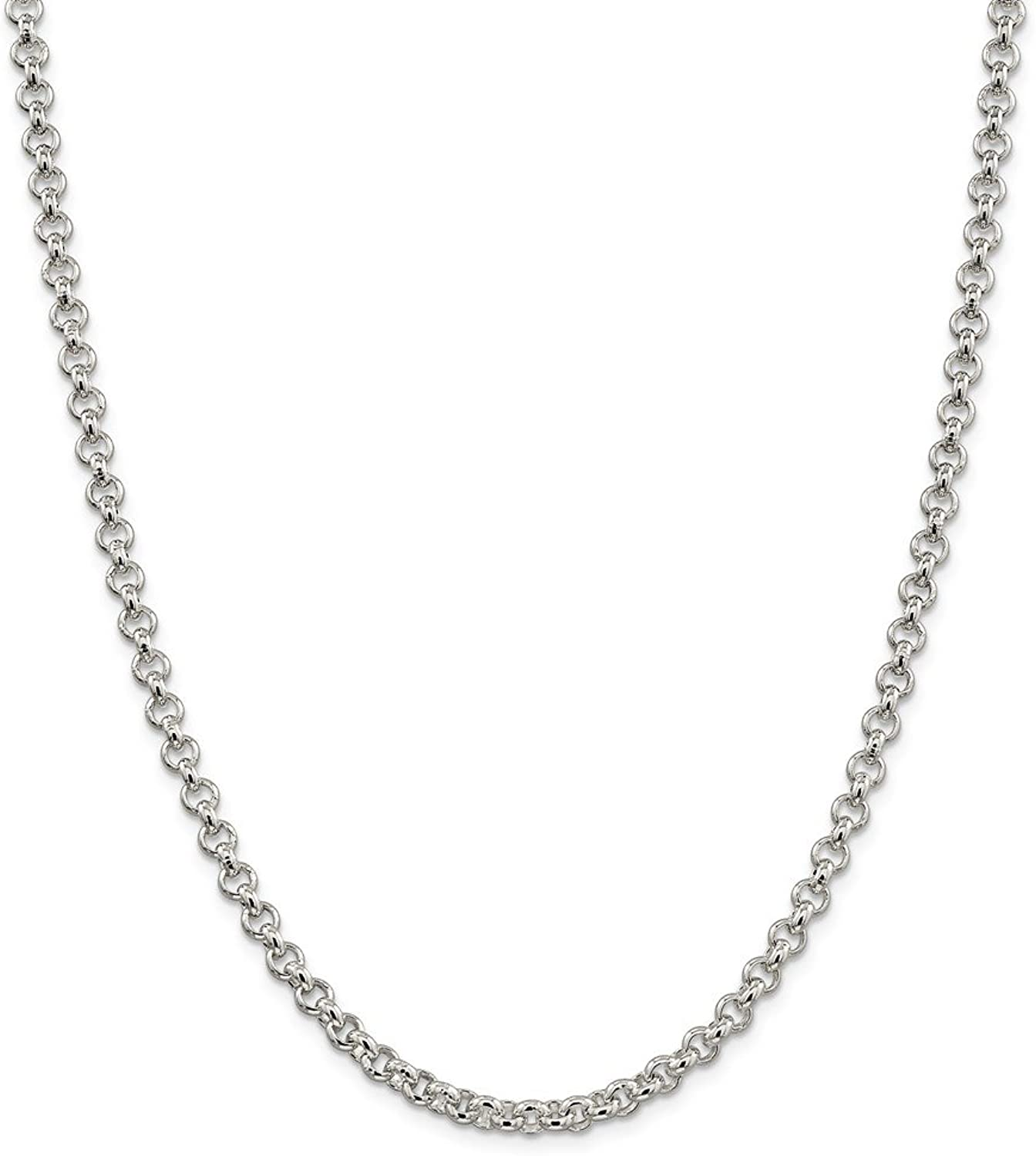 Beautiful Sterling silver 925 sterling Sterling Silver 5mm Rolo Chain
