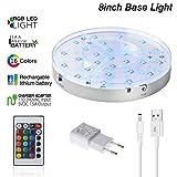 Shisha LED Untersetzer Base Lights Effekt Licht für Wasserpfeife mit Fernbedienung, 28pieces...