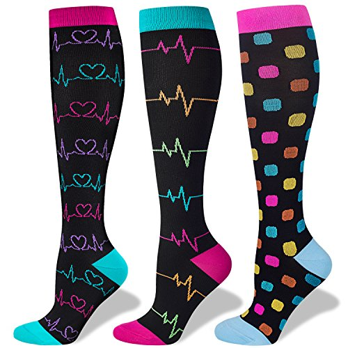 Compression Socks Women and Men, 20-30mmHg, Best for Nurses, Travel, Pregnancy