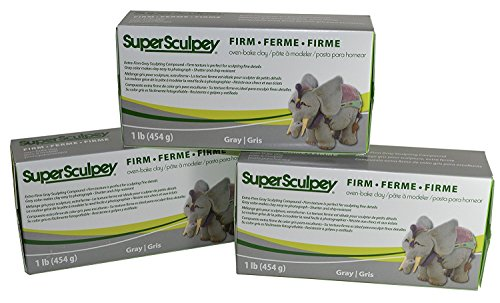 Sculpey Super Sculpturing Compound Firm Gray Clay by Sculpey