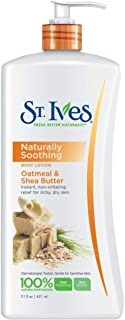 Oatmeal & Shea Butter Lotion for Moisturizing & Smoothing the Skin
