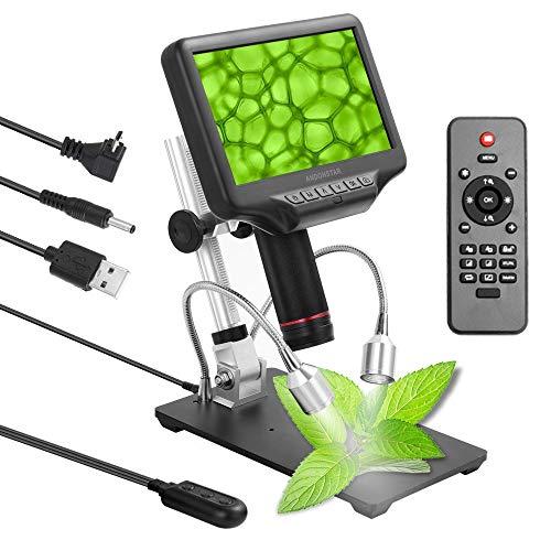 HYY-YY Andonstar AD407 Microscopio Digitale 3D 270x 1080p Interfaccia multimediale ad Alta Definizione Microscopi a Distanza Lungo Oggetto (Color : UK Plug)
