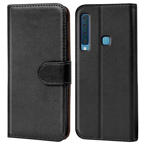 Verco Galaxy A9 (2018) Hülle, Handyhülle für Samsung Galaxy A9 Tasche PU Leder Flip Hülle Brieftasche - Schwarz