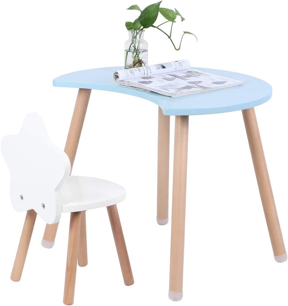 colore: blu 1 tavolo per bambini e sedie per bambini per camera dei bambini mobile per bambini