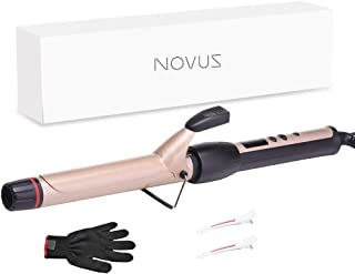 Curling Iron 1 inch Professional Curling Wand | Hair Curler,Instant Heat Ceramic Curling Iron with Adjustable Temp | Hair Products by NOVUS