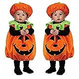 I3CKIZCE Halloween calabaza niña niño ropa pelele bebé mono unisex niño vestido naranja top + sombrero + calcetines / ropa regalo bebé 0-24 m, Naranja-2, 2-3 años …