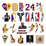 24 adesivi Kobe n.24 Pallacanestro NBA Divertenti Adesivi fai da te Adesivi Decalcomanie per bottiglie d'acqua, computer portatile, cellulare, skateboard, bicicletta, moto, auto paraurti bagagli