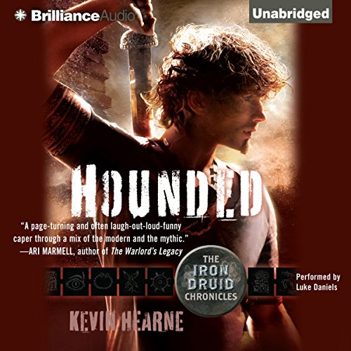 Hounded     The Iron Druid Chronicles, Book 1              By:                                                                                                                                 Kevin Hearne                               Narrated by:                                                                                                                                 Luke Daniels                      Length: 8 hrs and 6 mins     24,312 ratings     Overall 4.5