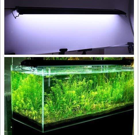 KZKR Upgraded Aquarium Light LED Full Spectrum 48-60 inch Hood Lamp for Freshwater Marine Plant Multi-Color Decorations Light 120-150 cm