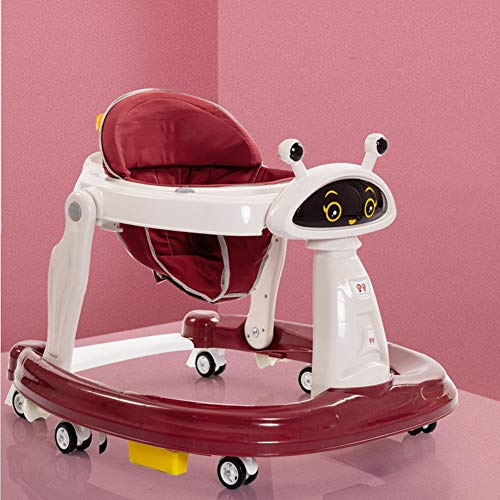 Baby Activity Walker,Baby Bouncers and Jumpers,Baby Walker for Boys Girls,Baby Walker for Carpet Floor,Toddler Swing/Baby Safety/Toddler Car,Red
