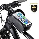 OUNDEAL Bolsas Bicicleta Cuadro, Bolsa Movil Bicicleta con Pantalla TPU Táctil, Bolsa Bicicleta Manillar para Teléfono Inteligente por Debajo de 6,5 Pulgadas