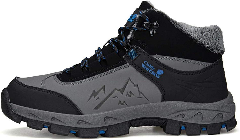 Men's shoes Winter Plus Velvet Keep Warm Hiking shoes High-Top Casual Tourism shoes Non Slip Waterproof Outdoor shoes,B,40