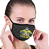 Welding It's Like Sewing with Fire Funny Washable Reusable Face Mask Breathable Mouth Cover Adult Black