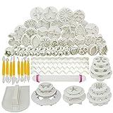 Juego de herramientas para hornear de 68 piezas, cortador de galletas, fondant, decoración de pasteles, utensilios para hornear, accesorios de cocina, juego de moldes para galletas, herramientas para