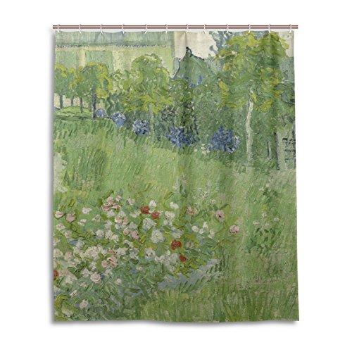 MNSRUU ISAOA Duschvorhang Van Gogh Daubigny's Garden, wasserdicht, schimmelresistent, waschbar, mit Haken für Badezimmer-Zubehör, 150 x 180 cm