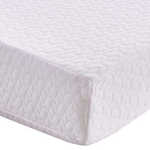 Panana 3ft Single Mattress Budget Economy Foam Mattress Orthopedic Infused Reflex Full Foam Mattress in White 10cm Thick, Come with A Free Cover