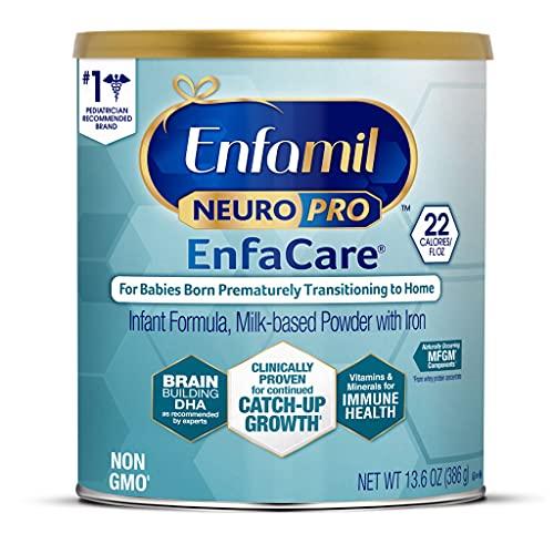 Enfamil NeuroPro Enfacare Premature Baby Formula Milk-Based with Iron, Brain-Building DHA, Vitamins & Minerals for immune Health, Powder Can, 13.6 Oz
