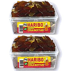2 x full tubs haribo sweets party favours treats candy box wholesale (giant cola bottles) 2 x Full Tubs Haribo Sweets Party Favours Treats Candy Box Wholesale (Giant Cola Bottles) 51SvEzoCGJL
