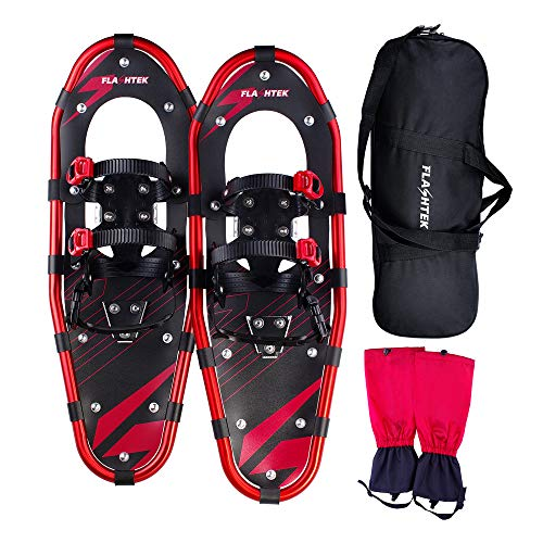 FLASHTEK 21 Inches Snowshoes for Men and Women, Light Weight Aluminum...