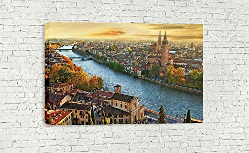 "VERONA ITALY CANVAS WALL ART (30"" X 18"" / 75 X 45cm)"