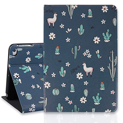Llama iPad Mini Case 4/5, Cactus 7.9 Inch Folio Stand Smart Tablet Case Cover for iPad Mini 4th Gen and 5th Gen 2019 Auto Sleep Wakeup