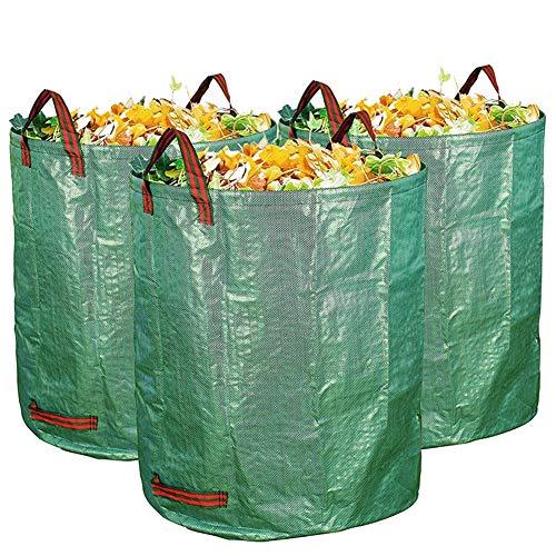 MEYLEE Sacs De Rebut De Jardin - Grands Sacs Résistants Réutilisables Et Réutilisables De Rebut De Jardinage Autoportants Et Pliables,126L,3Pcs