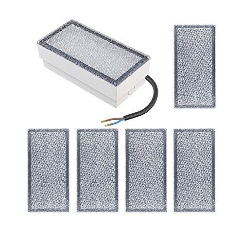 parlat LED Einbaustein Bodeneinbauleuchte CUS, 20x10cm, 230V, warm-weiß, 6 STK.