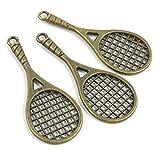 Abalorios de joyería de tono bronce antiguo 482242 para raqueta de tenis, manualidades y manualidades antique bronze