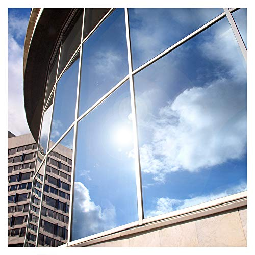 BDF S05 Window Film Daytime Privacy One Way Mirror Silver 5 (36in X...